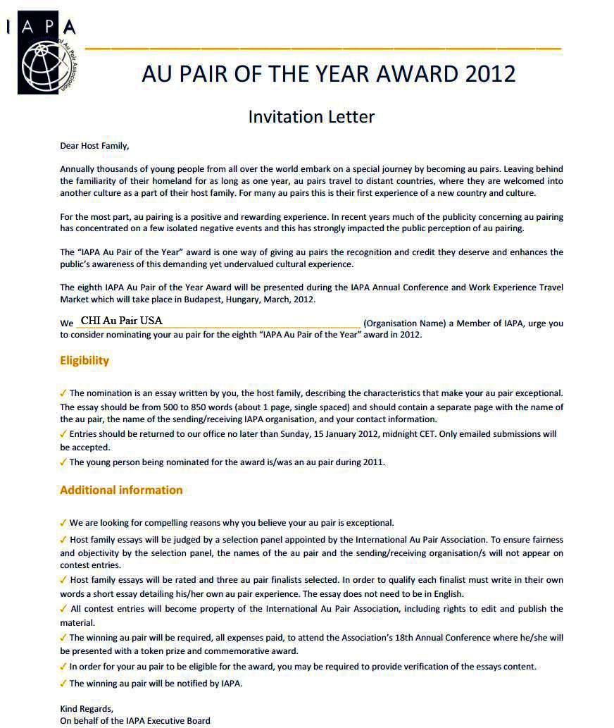 Invitation letter au pair anjinho b invitation letter au pair we stopboris Choice Image