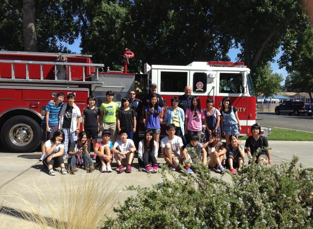 Japanese Students Visit Fire Dept